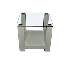 Winnie White High Gloss Side Table