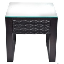 Chloe Side Table with Glass Top