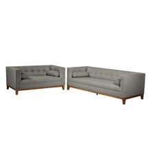 Claudia 2 Seater Fabric Sofa with Arm Cushions