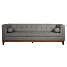 Claudia 3 Seater Fabric Sofa with Arm Cushions