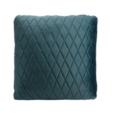 Steel Blue Coco Velvet Cushion