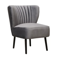 Pebble Grey Slipper Chair