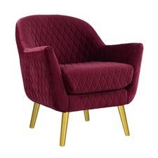 Merlot & Gold Club Chair