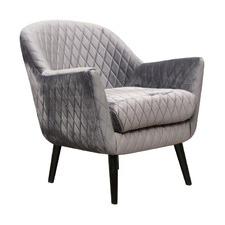 Pebble Grey Club Chair