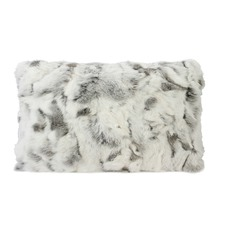 Siberian Ash Rabbit Fur Rectangular Cushion