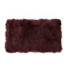 Shiraz Rabbit Fur Rectangular Cushion