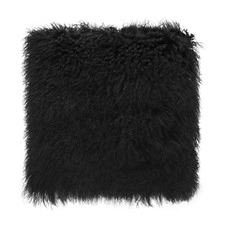 Black Tibetan Fur Cushion