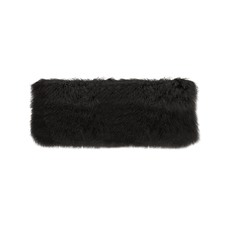 Black Tibetan Fur Long Cushion