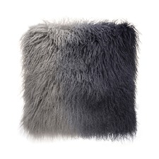 Grey Ombre Tibetan Fur Cushion