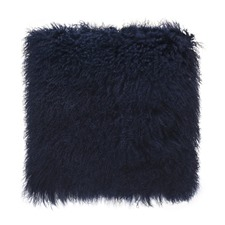 Navy Tibetan Fur Cushion