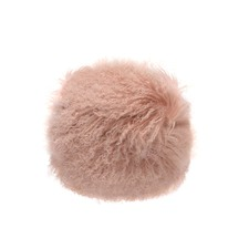 Pink Tibetan Fur Round Cushion