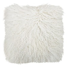 Natural White Tibetan Fur Cushion