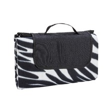 Black & White Zebra Waterproof Picnic Blanket