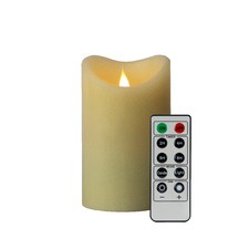 3D Smooth Ivory Flameless Candle