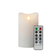 3D Smooth White Flameless Candle
