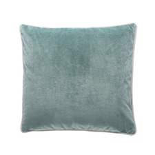 Aqua Gold Gilded Velvet Cushion