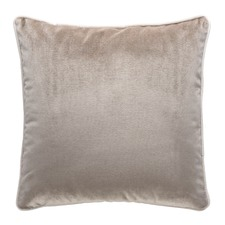 Coffee Luxury Piped Velvet Cushion