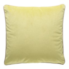 Lime Green Luxury Piped Velvet Cushion