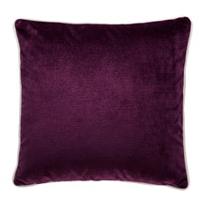 Mulberry Luxury Cream Piped Velvet Cushion