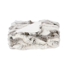 Ash Rabbit Fur Throw