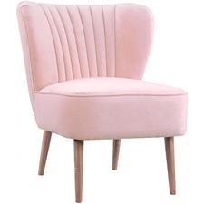 Baby Pink Coco Velvet Slipper Chair