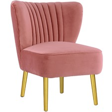 Pink Coco Velvet Slipper Chair