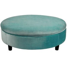 Extra Large Velvet Ottoman with Feet