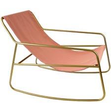 Gold & Blush Manhattan Rocking Chair