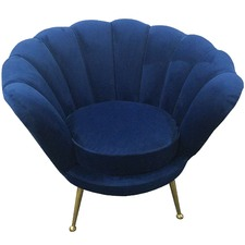 Manhattan Shell Velvet Armchair