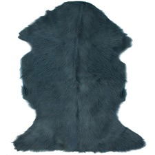 Royal Blue Goat Hide Throw