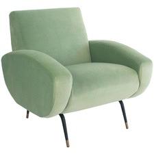 Modern Milan Velvet Armchair