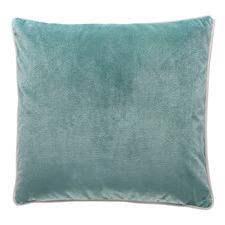 Bruen White Trim Square Velvet Cushion