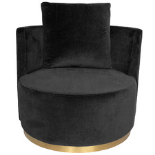 Tremblay Velvet Love Seat with Gold Base