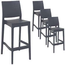 75cm Miraya Outdoor Barstools (Set of 4)
