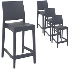 65cm Miraya Outdoor Barstools (Set of 4)