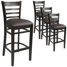 78cm Chocolate Fiera Faux Leather Barstools (Set of 4)