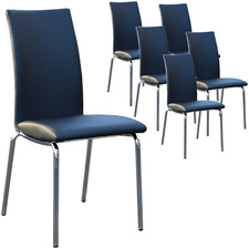 Irma Faux Leather Dining Chairs (Set of 6)