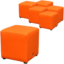 Juno Faux Leather Ottomans (Set of 6)