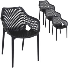 Pravin UV-Stabilised Outdoor Dining Chairs (Set of 4)