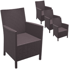 Leyla UV-Stabilised Outdoor Dining Chairs (Set of 4)