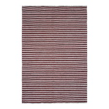 Chunky Wool Red/White Rug