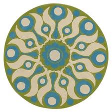 Florence Broadhurst Solar Blue/Lime Rug