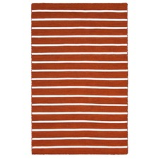 Pinstripe Orange Rug