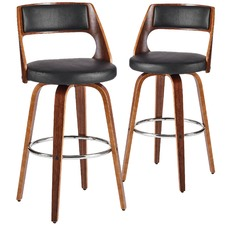 Black Zurich Barstools (Set of 2)