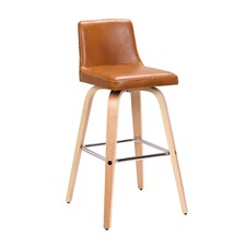 Matera Faux Leather & Wood Barstools (Set of 2)