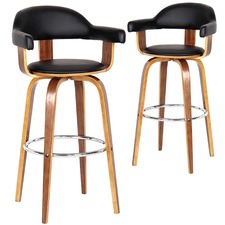 Siena High Back Barstools (Set of 2)