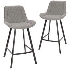 Bordeaux Faux Leather Barstools (Set of 2)