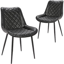 Lyon Faux Leather Dining Chairs (Set of 2)