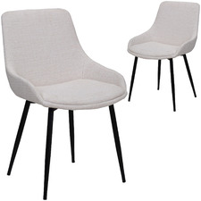 Lance Fabric Dining Chairs (Set of 2)