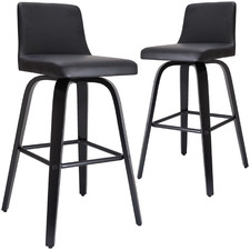 64cm  Marselle Faux Leather Barstools (Set of 2)